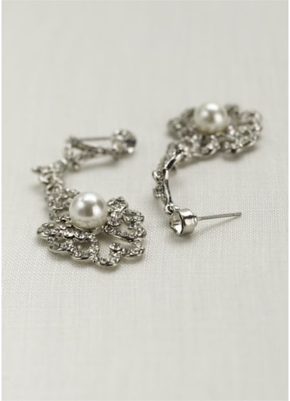 Vintage Pearl Drop Earrings 131785ep Dress David S Bridal