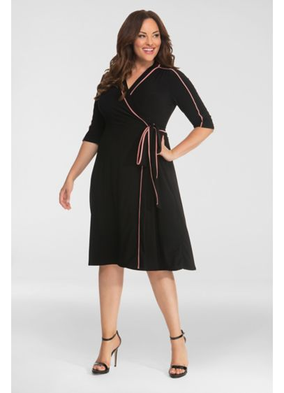 Harper Plus Size Wrap Dress - A wrap dress is the year-round, all-occasion wardrobe