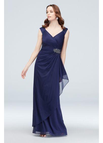 ad468ca2de3 Beaded Embellishment Mesh Off the Shoulder Gown. Alex Evenings