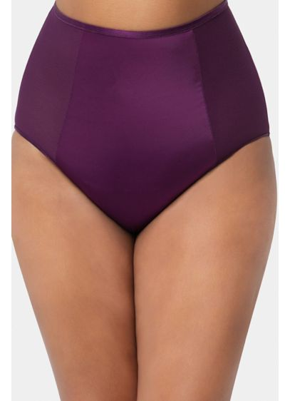 Diamond Net High Waist Panty - This ultra-smooth panty features a ruched back and