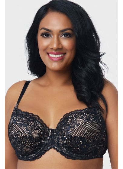 Curvy Couture Beautiful Bliss Lace Unlined Bra - A beautiful basic you'll reach for again and