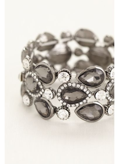 David's Bridal Grey (Pear Shaped Stones Pave Rhinestone Bracelet)