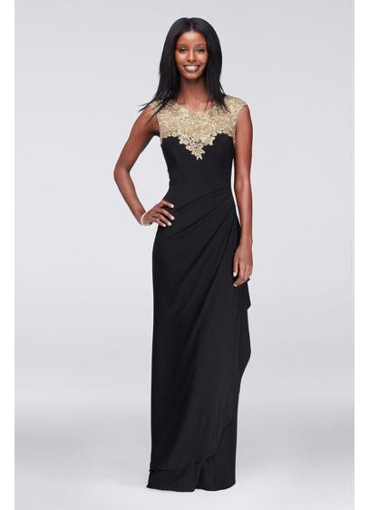Long Sheath Cap Sleeves Formal Dresses Dress - Alex Evenings