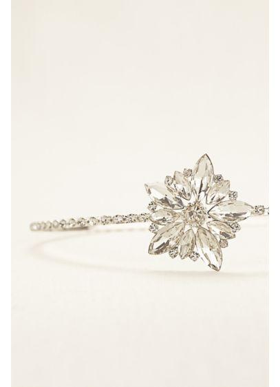 Flower Girl Rhinestone Side Motif Hard Headband - Wedding Accessories