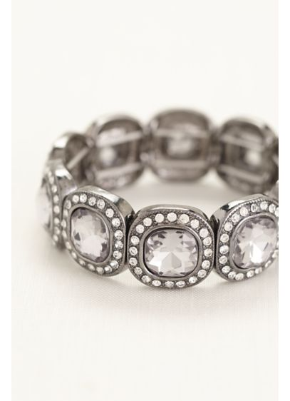 Square Pave Stretch Bracelet - Wedding Accessories