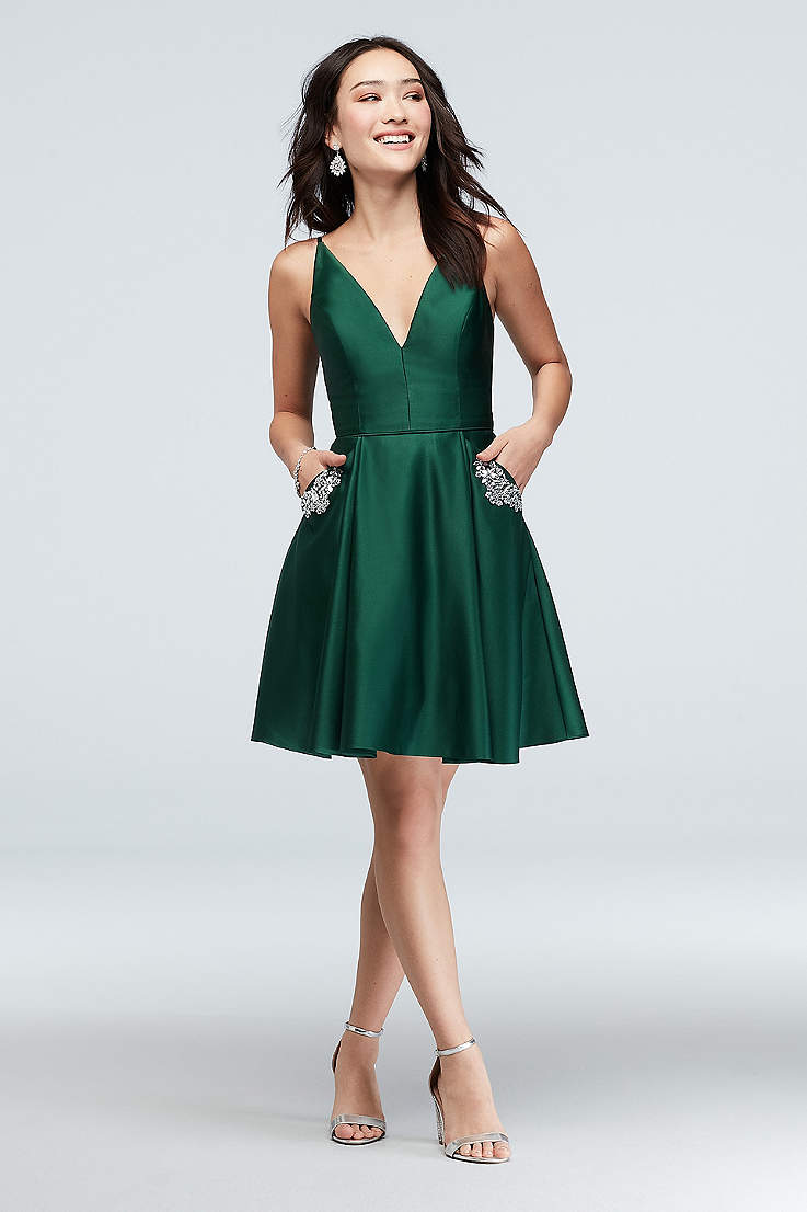 7e52f5dbc8366 Green Prom & Homecoming Dresses | Emerald, Dark & Light Green Gowns ...