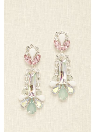 Multi Shaped Gemstone Statement Earrings - Wedding Accessories