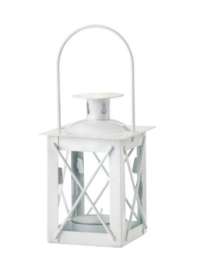 Mini Lantern Tea Light Holder - Set of four Removable lid Metal, glass 4.5