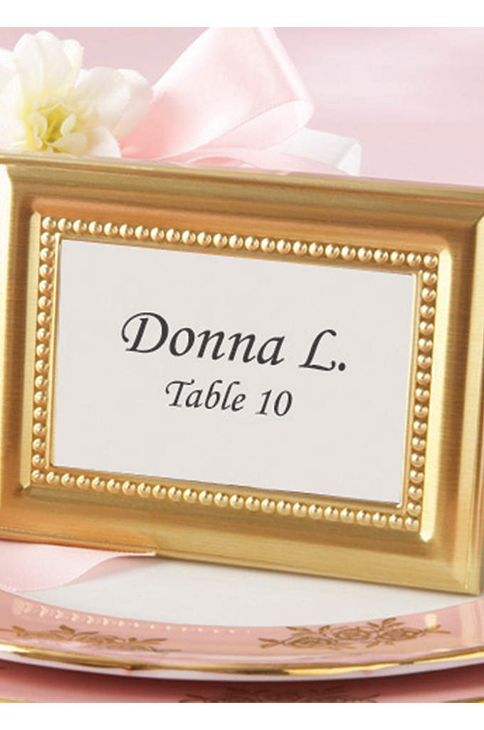 Elegant Beaded Photo Frame/Placecard Holder - Enhance each place setting at your resplendent event