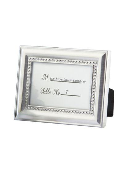 Grey (Elegant Beaded Photo Frame/Placecard Holder)