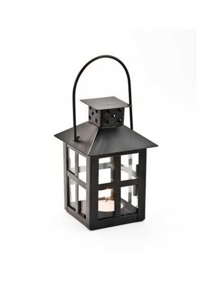Black mini lantern tea light holder david s bridal