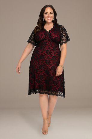 Short Sheath Short Sleeves Dress - Kiyonna