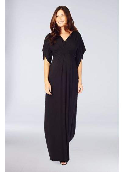 Long A-Line Elbow Sleeves Cocktail and Party Dress - Ingrid and Isabel