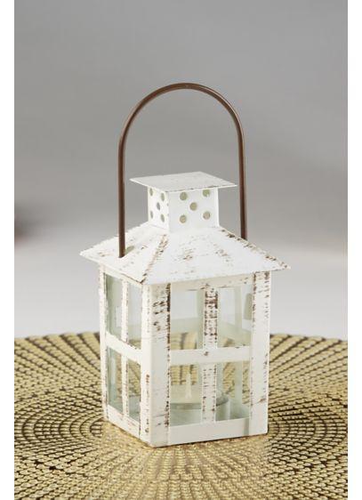 Vintage Distressed Small Lantern Set - Wedding Gifts & Decorations