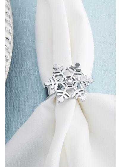 Rhinestone Snowflake Napkin Rings - Wedding Gifts & Decorations