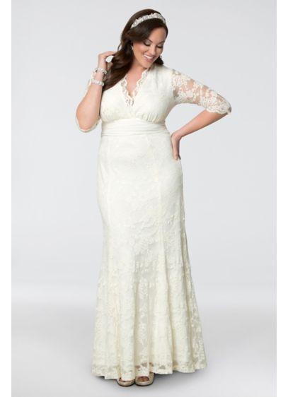 673cab3bf94ae Amour Lace Plus Size Wedding Gown. 14130905. Long Mermaid  Trumpet Boho Wedding  Dress - Kiyonna