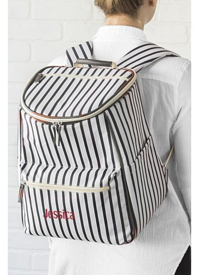 Personalized Striped Backpack Cooler - The Personalized Striped Backpack Cooler is the perfect