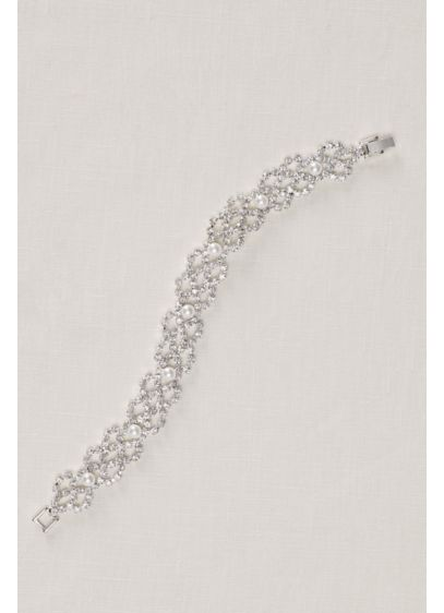 David's Bridal Grey (Pearl and Crystal Scallop Bracelet)