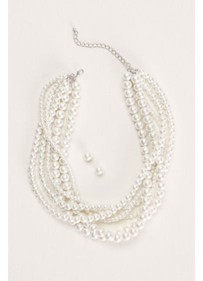 Pearl Necklace and Earring Set - Wedding Accessories