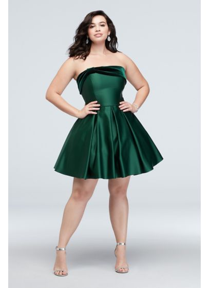 Short Ballgown Strapless Holiday Dress - Blondie Nites