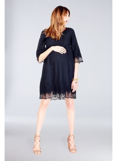 Short Sheath 3/4 Sleeves Daytime Dress - Ingrid and Isabel