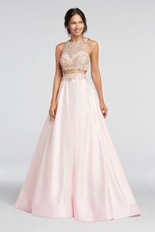 Satin Two Piece Dress
