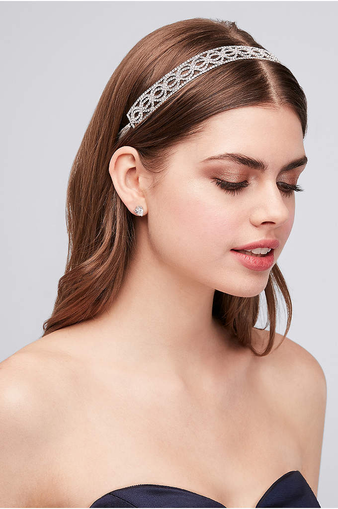 Crystal Circles Tie-Back Headband