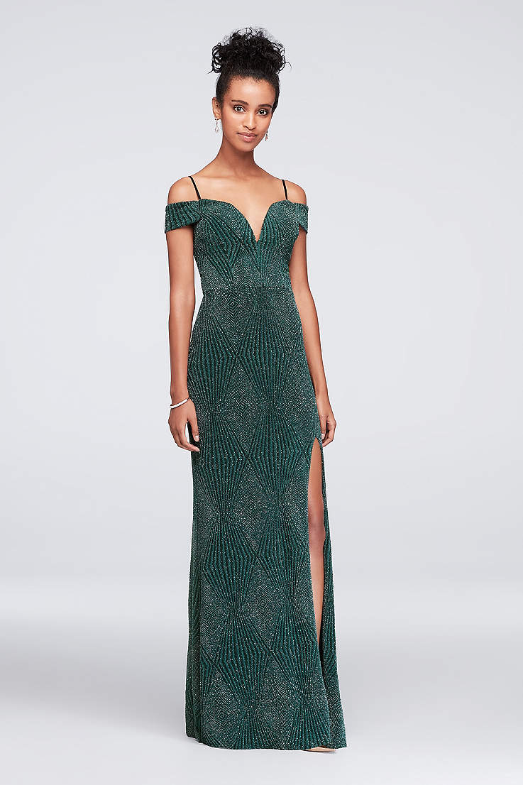 cfeb5bbdff3e Green Prom Dresses | Emerald, Dark and Light Green Gowns | David's ...