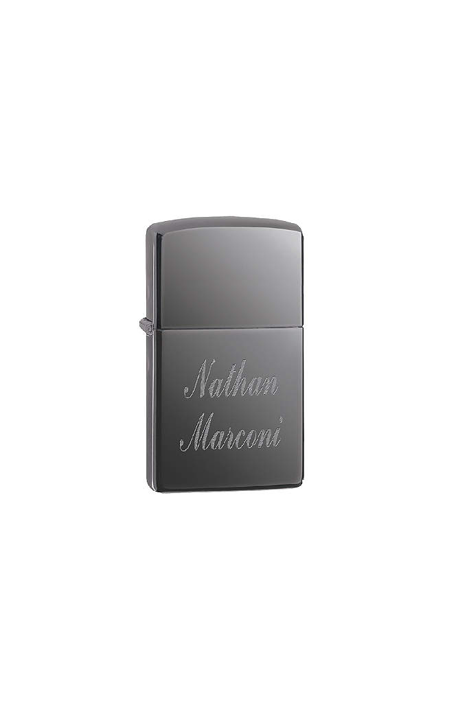 Personalized Black Ice Zippo Lighter - Thank your groomsmen with a personalized Zippo lighter.