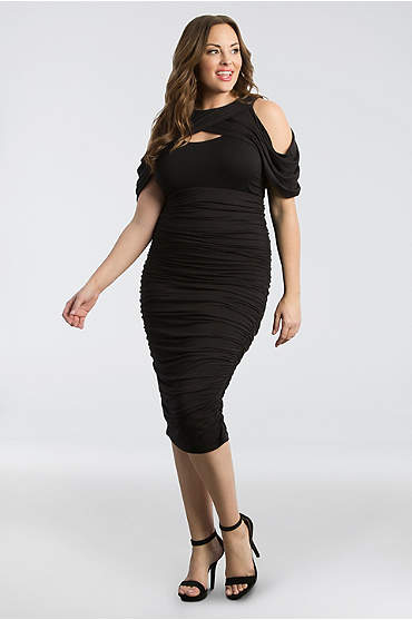 Bianca Ruched Plus Size Dress