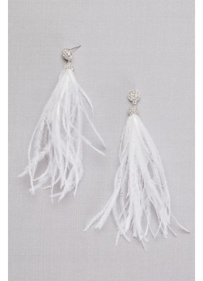Feather Tassel Earrings - Wedding Accessories