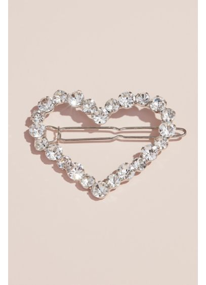 Crystal Heart Flower Girl Barrette - Wedding Accessories