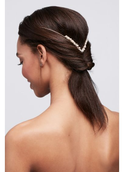 Back Headband with Graduated Pearls - Wedding Accessories
