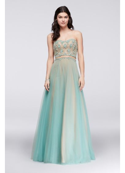 Long Ballgown Strapless Cocktail and Party Dress - Glamour