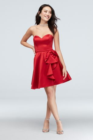 Short A-Line Strapless Dress - Blondie Nites