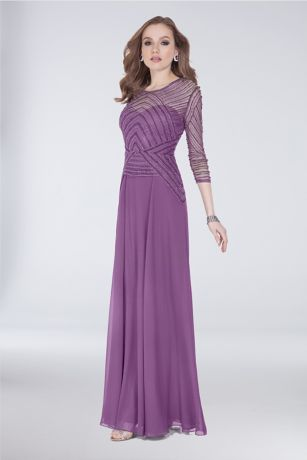 Long Sheath Long Sleeves Dress - Terani Couture