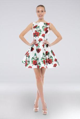 Short Ballgown Dress - Terani Couture