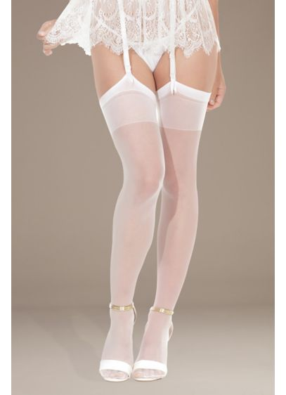 Coquette Sheer Thigh Highs - This pair of sheer stockings will look simply