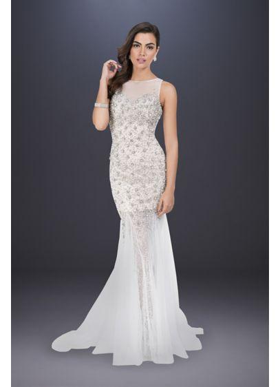 Long Sheath Casual Wedding Dress - Terani Couture