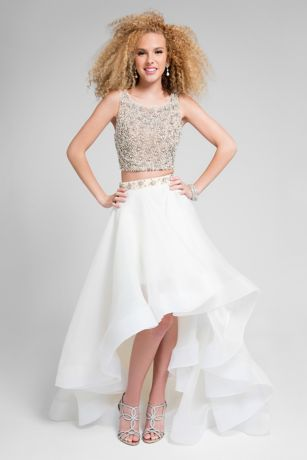 High Low Ballgown Tank Dress - Terani Couture