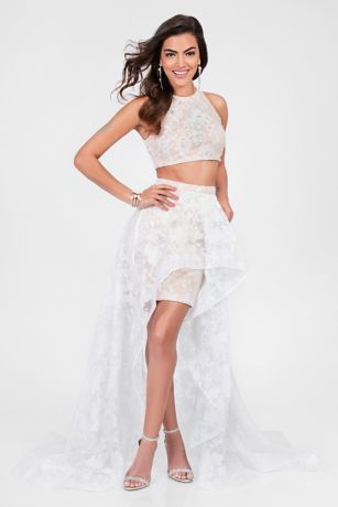 High Low Ballgown Tank Dress - Terani Couture