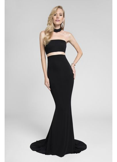 Long Sheath Strapless Cocktail and Party Dress - Terani Couture