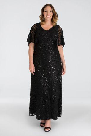 Long Cap Sleeves Dress - Kiyonna