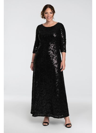 Long 0 3/4 Sleeves Formal Dresses Dress - Kiyonna
