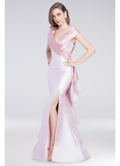 Long Mermaid/ Trumpet Off the Shoulder Guest of Wedding Dress - Terani Couture