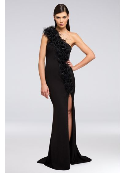 Long Sheath One Shoulder Cocktail and Party Dress - Terani Couture