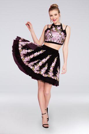 Short A-Line Spaghetti Strap Dress - Terani Couture
