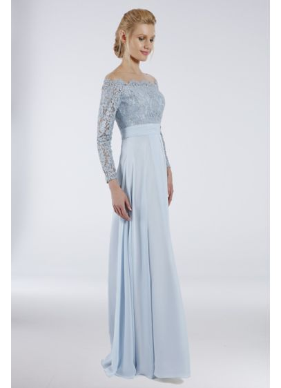 Long Sheath Off the Shoulder Formal Dresses Dress - Terani Couture