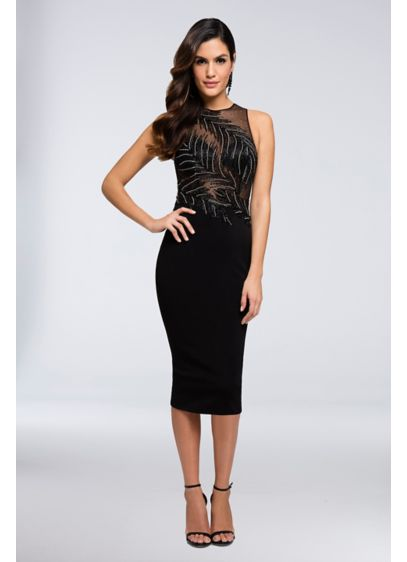 Short Sheath Tank Cocktail and Party Dress - Terani Couture