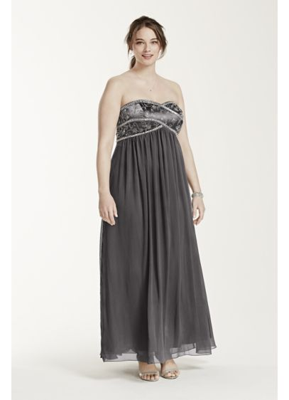Long Sheath Strapless Cocktail and Party Dress - David's Bridal